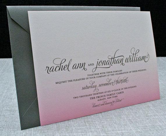 Ombre Wedding Invitation: Ombre Wedding Invitation