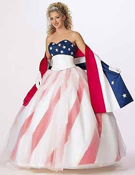 Flag wedding dress affordable for Rebel flag wedding dresses